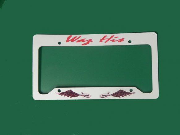 Waz his License Frame